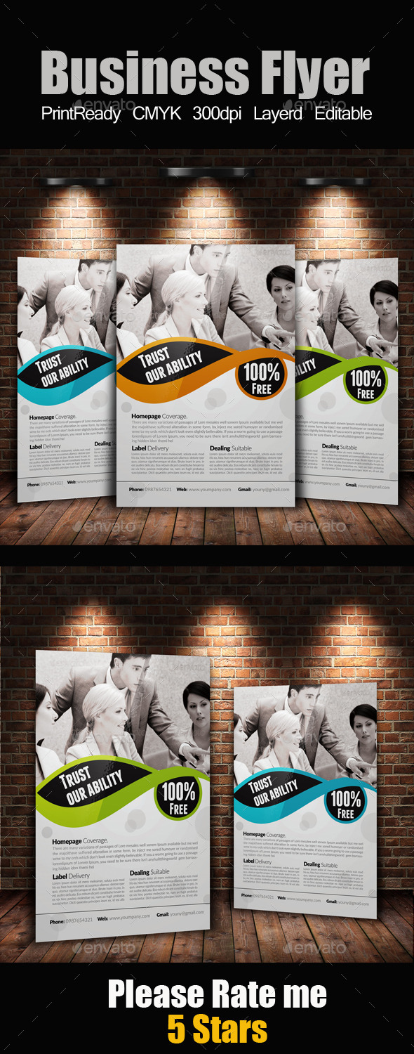GraphicRiver A4 Business Flyer 9170880