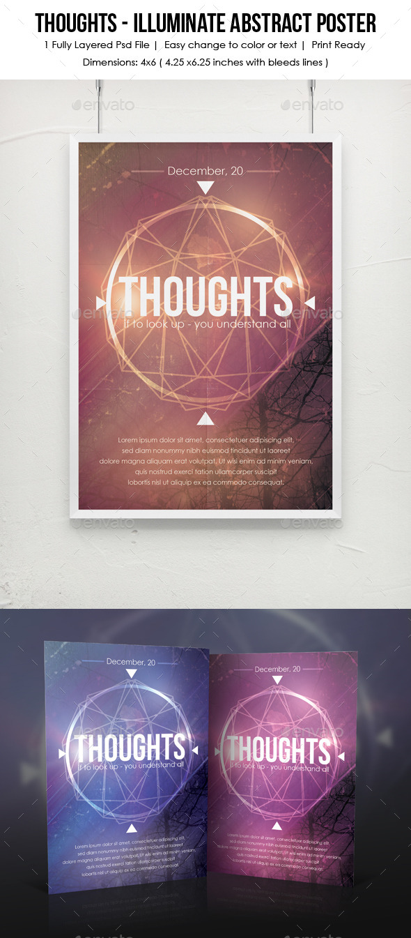 GraphicRiver Thoughts Illuminate Abstract Poster 9170921
