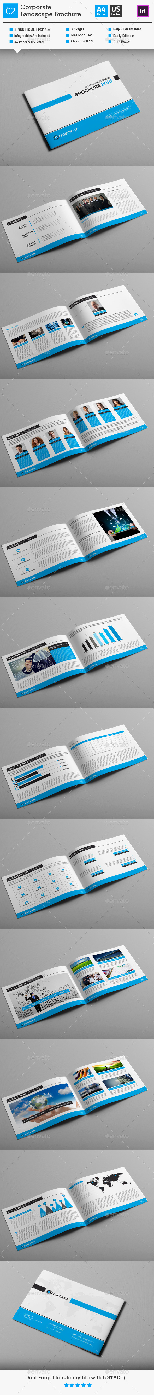 GraphicRiver Corporate Business Brochure 02 Landscape 9170936