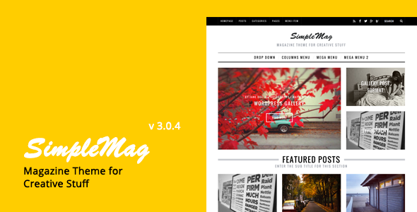 SimpleMag - Magazine theme for creative stuff - Blog / Magazine WordPress