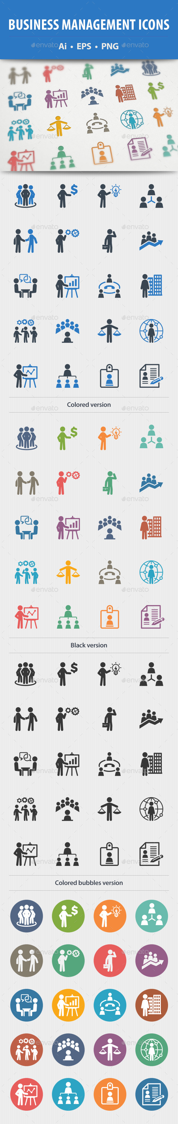 GraphicRiver Business Management Icons 9171001