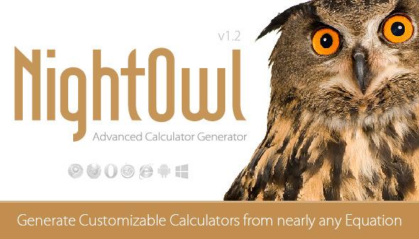 CodeCanyon NightOwl Advanced Calculator Generator 9171375