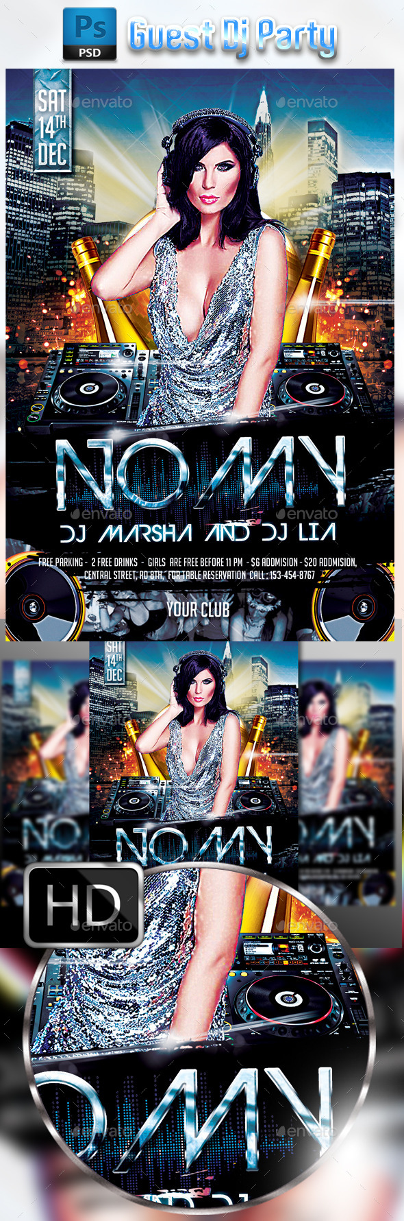 GraphicRiver Guest Dj Party #2 9171476
