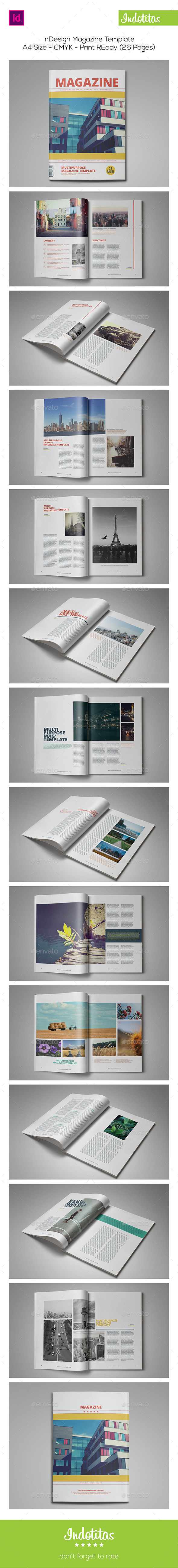GraphicRiver 26 Pages InDesign Magazine Template 9171577