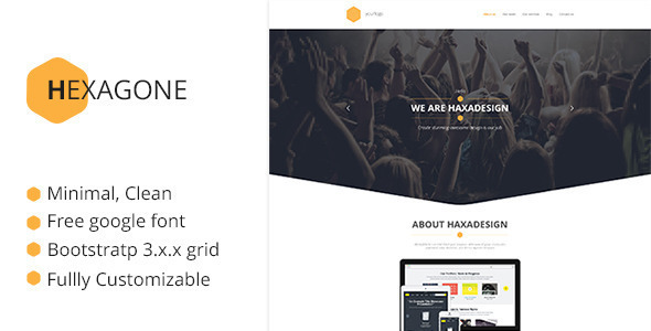 ThemeForest Hexagone One Page Multi-Purpose Template 9160142