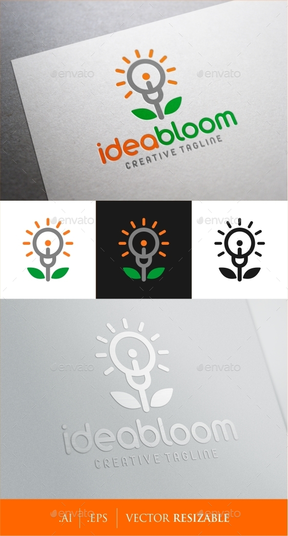 GraphicRiver Idea Bloom Logo 9171866