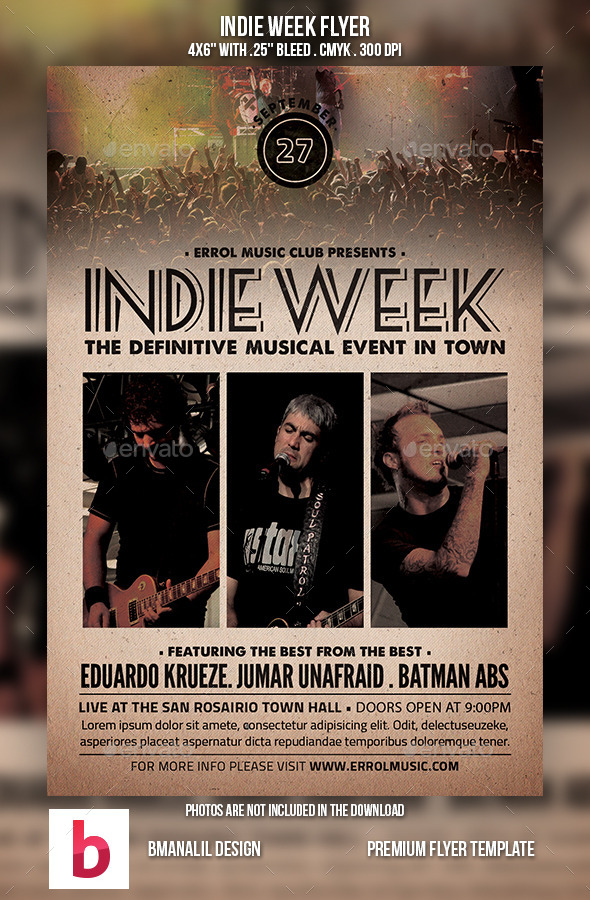 GraphicRiver Indie Week Flyer 9171984