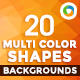 20 Multi Color Shape Backgrounds - GraphicRiver Item for Sale