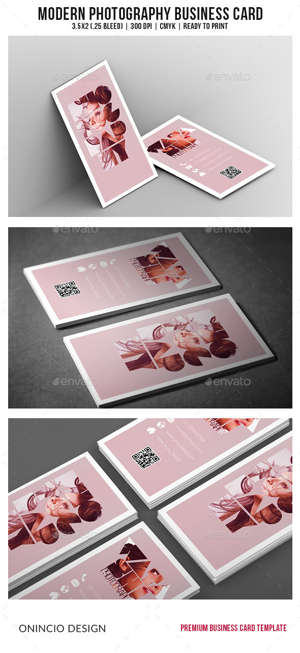 GraphicRiver Modern Photography Business Card 9166175