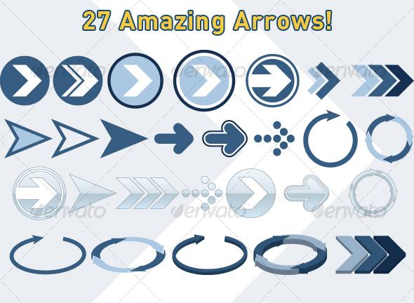 GraphicRiver 27 Useful Arrows 38463
