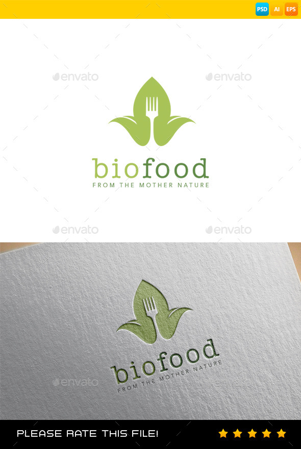 GraphicRiver Bio Food Logo 9117547