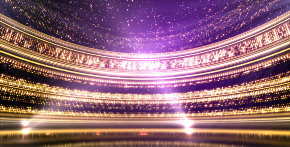Glittering Revolving Stage