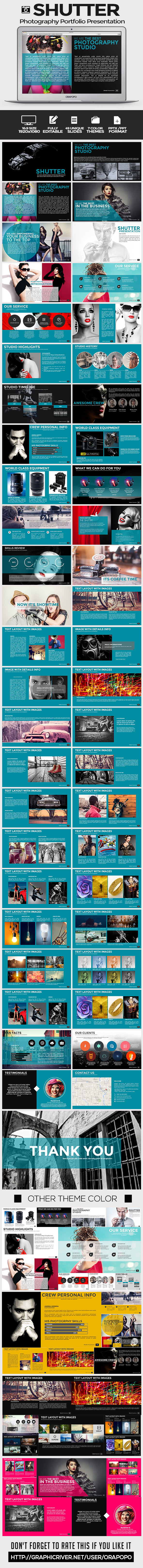 GraphicRiver Shutter Photography Portfolio Presentation 9174831