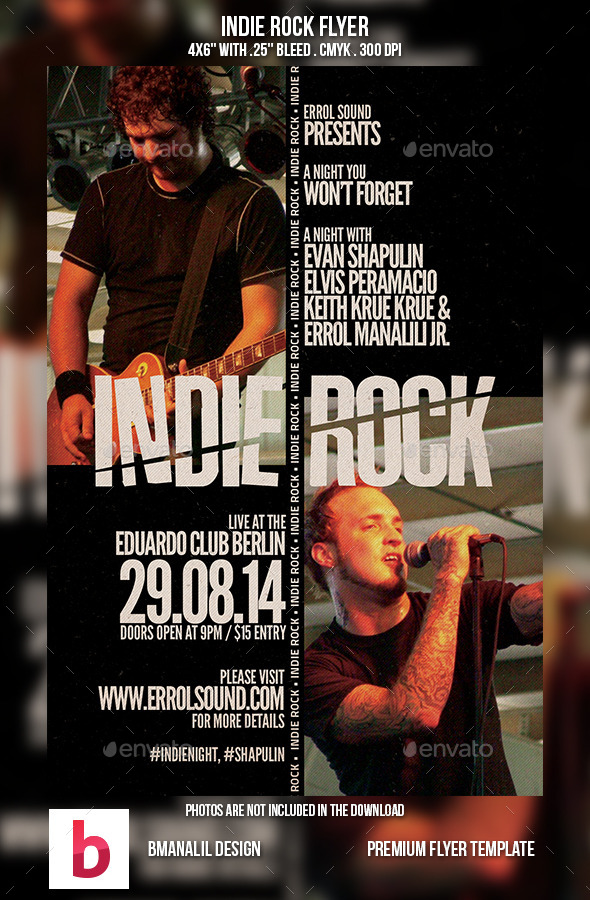 GraphicRiver Indie Rock Flyer 9174862