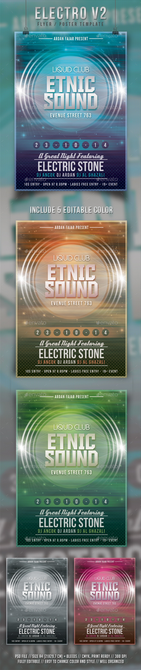 GraphicRiver Electro V2 Flyer Template 9174948