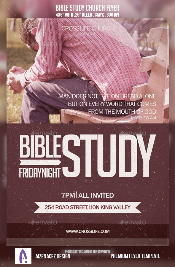 GraphicRiver Bible Study Church Flyer 9152363