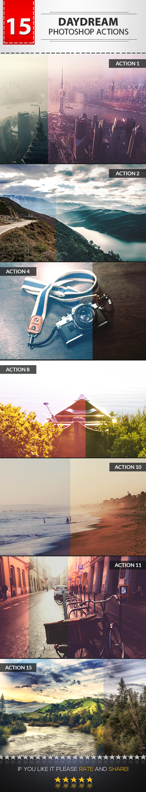 GraphicRiver 15 Daydream Photoshop Actions 9174959