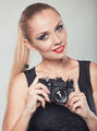 Beautiful woman with camera - PhotoDune Item for Sale