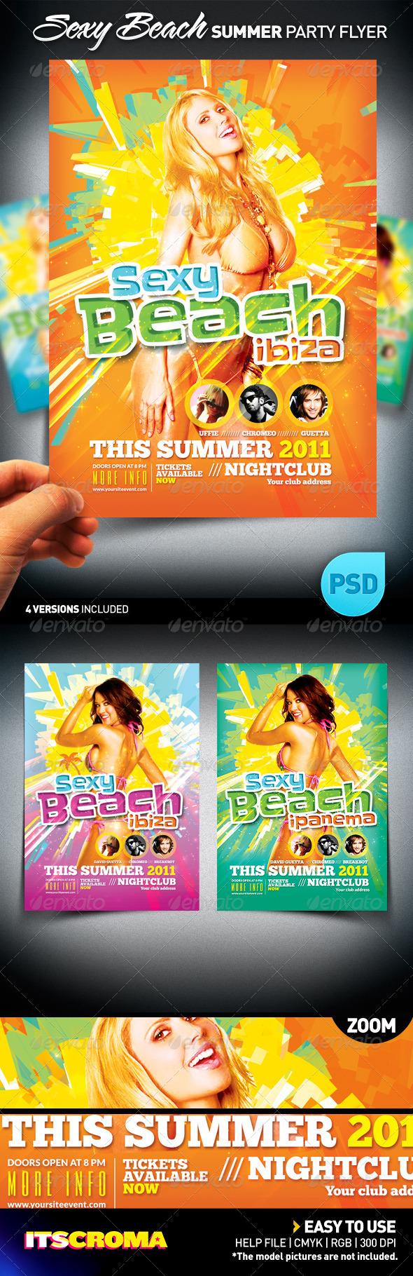 Sexy Beach Summer Party / Flyer