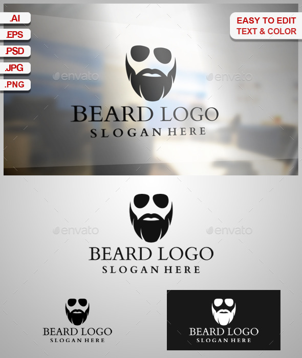 GraphicRiver Beard Logo 9105762