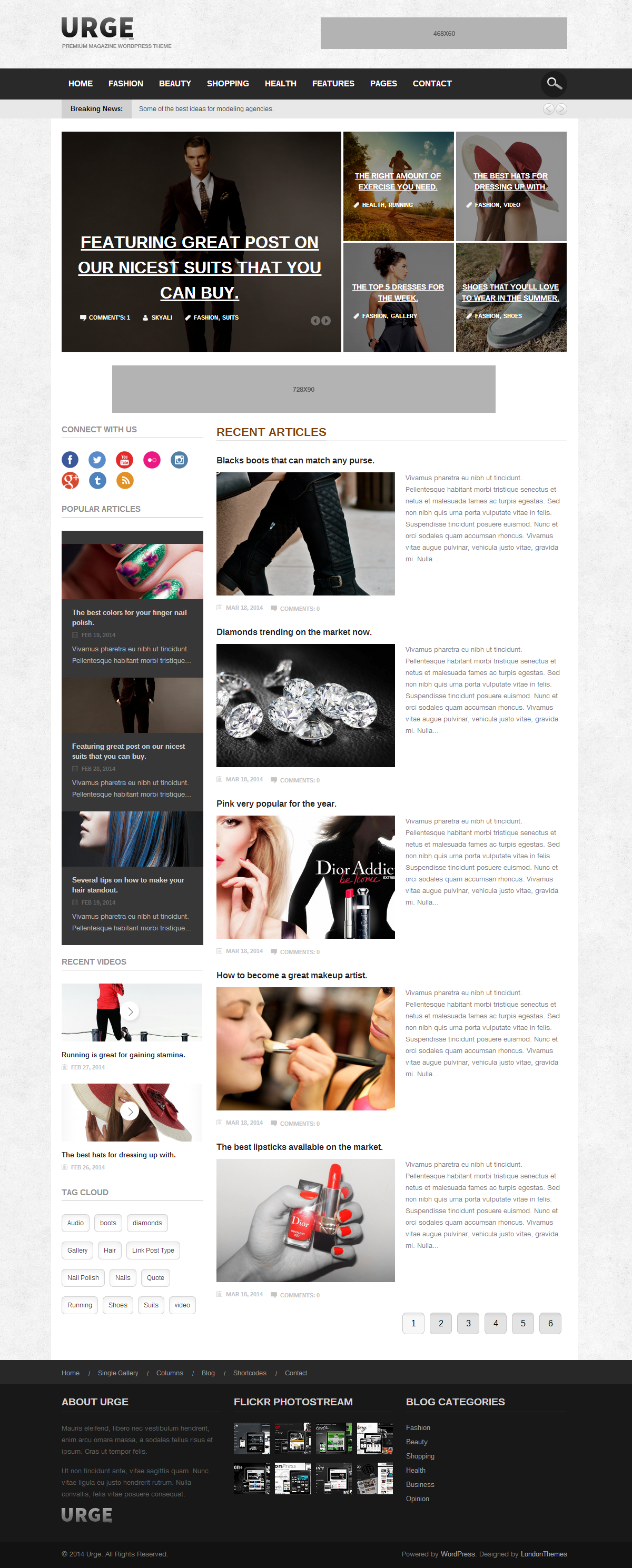 Urge - Responsive Magazine News WordPress Theme