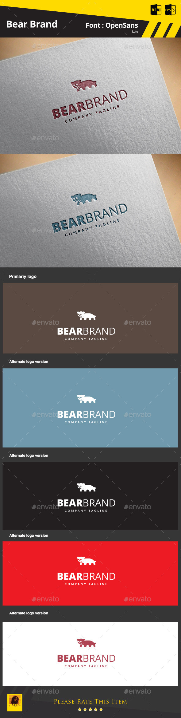 GraphicRiver Bear Brand 9175206