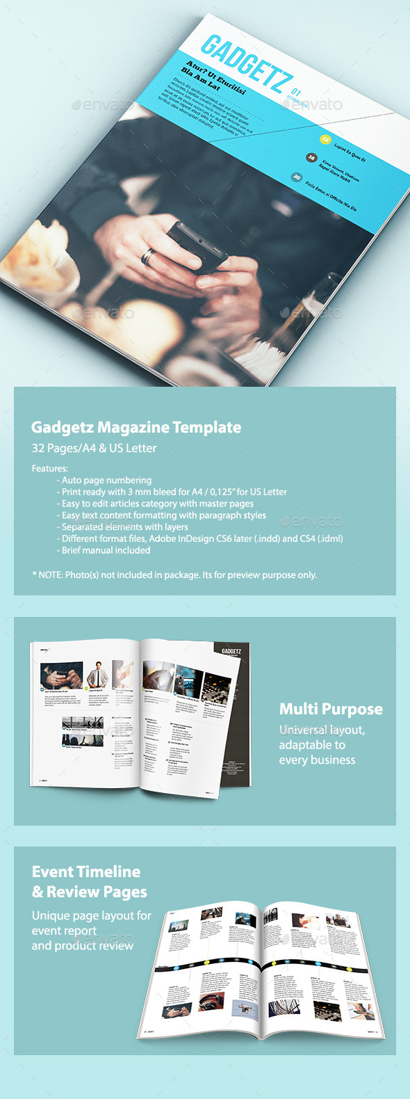 GraphicRiver Gadgetz Multipurpose Magazine 9128048