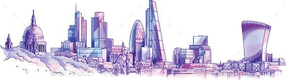 GraphicRiver London Skyline 9175244