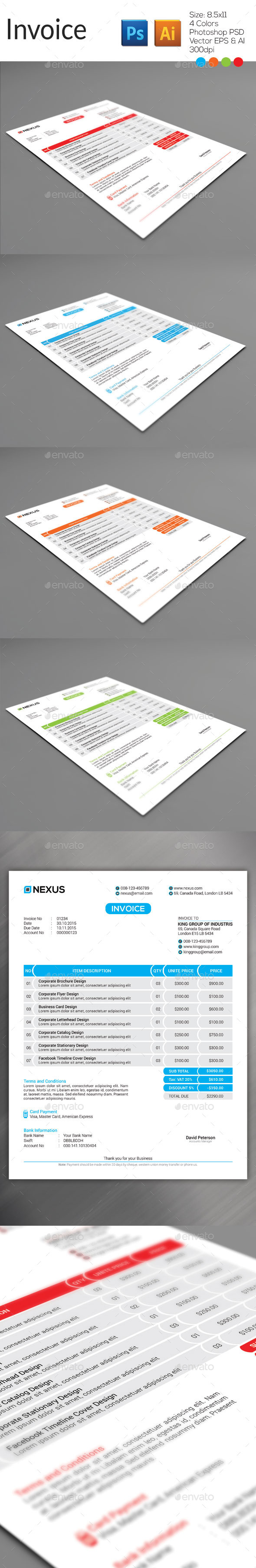 GraphicRiver Invoice 9175285