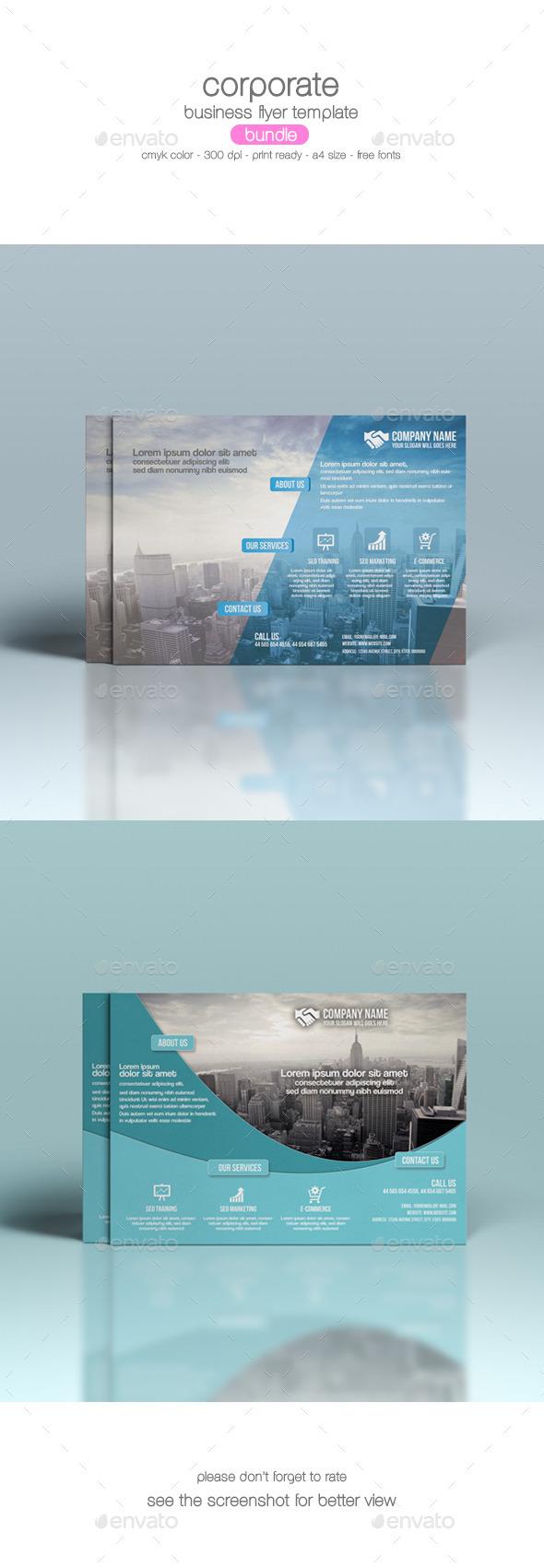 GraphicRiver Corporate Flyer Bundle 9175303