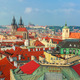 Aerial view over Old Town in Prague, Czech Republic - PhotoDune Item for Sale