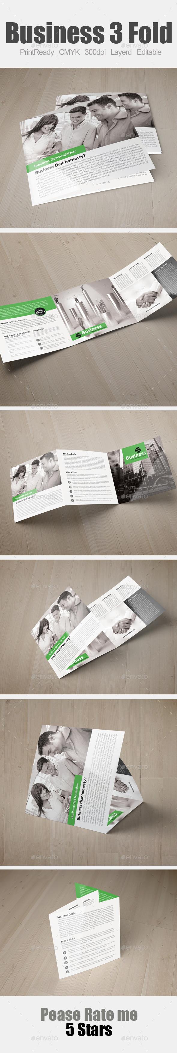 GraphicRiver Multi Use Business Square Trifold 9175463