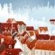 Winter City Landscape - GraphicRiver Item for Sale