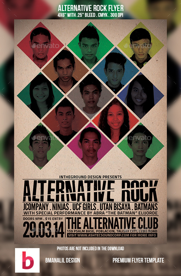 GraphicRiver Alternative Rock Flyer 9175892