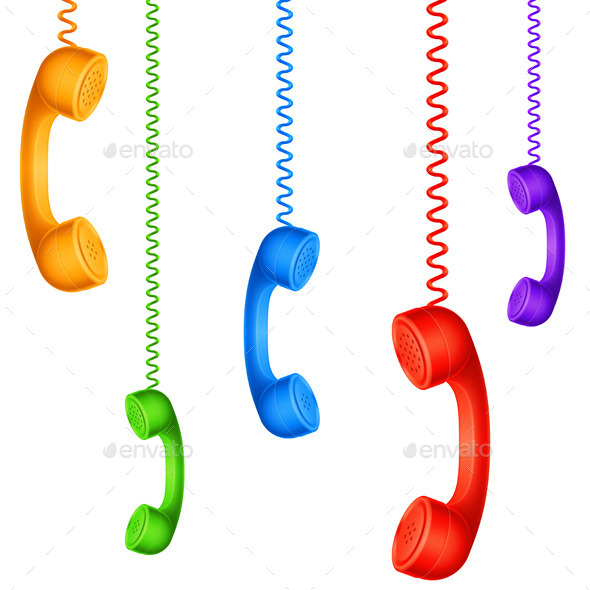 GraphicRiver Colored Handsets 9175915