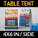 Restaurant and Cafe Table Tent Template Vol2 - GraphicRiver Item for Sale