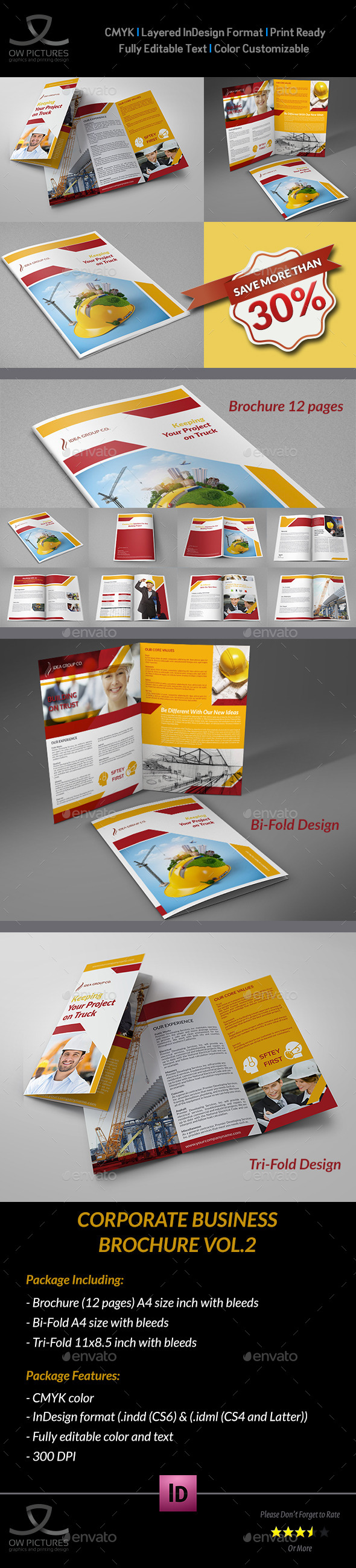 GraphicRiver Construction Company Brochure Bundle Vol.2 9176279