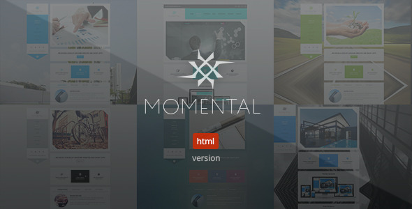 ThemeForest Momental Vertical Navigation HTML5 Template 9087120