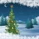 Winter Landscape with Christmas Tree - GraphicRiver Item for Sale