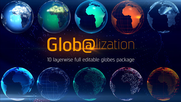 Glob@lization 10 Editable Globes Pack