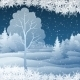 Winter Christmas Landscape with Tree - GraphicRiver Item for Sale