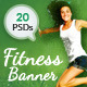 Fitness & Health Banners - GraphicRiver Item for Sale