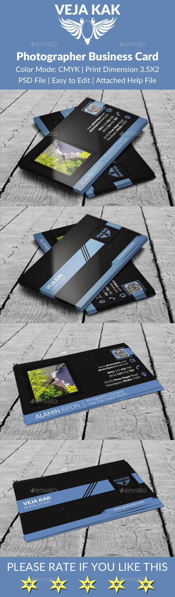 GraphicRiver Creative Photographer Business Card 9177258