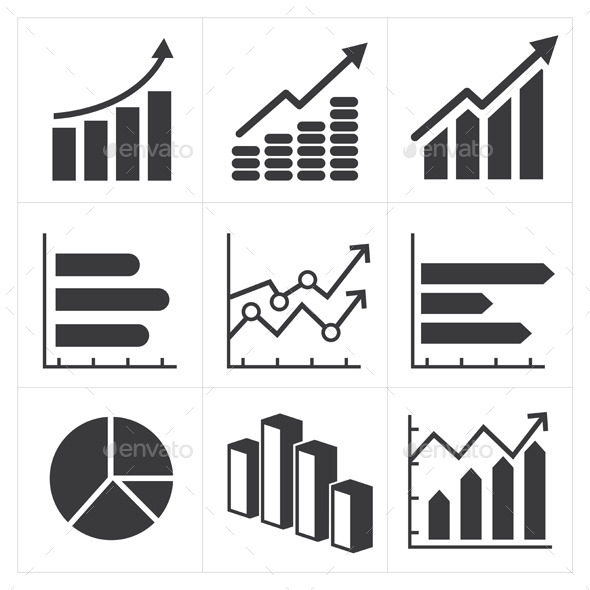 GraphicRiver Icon Set of Diagram and Graphs Business 9177413
