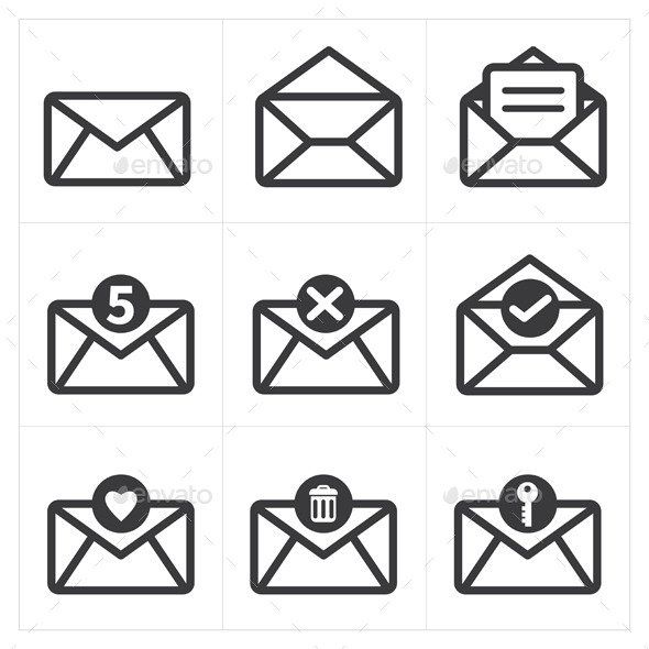 GraphicRiver Set of Icon For Mail 9177431