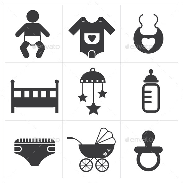 GraphicRiver Baby Stuff Icon 9177469