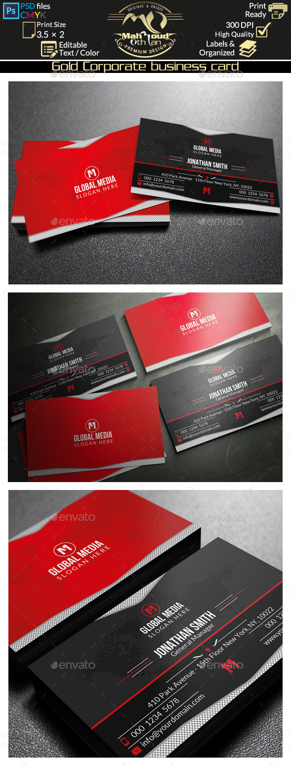 GraphicRiver Corporate Business Card 9177572