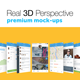 Real 3D Perspective Mock-Ups Phone 6 Edition - GraphicRiver Item for Sale