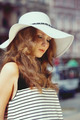 Woman in summer hat outside - PhotoDune Item for Sale