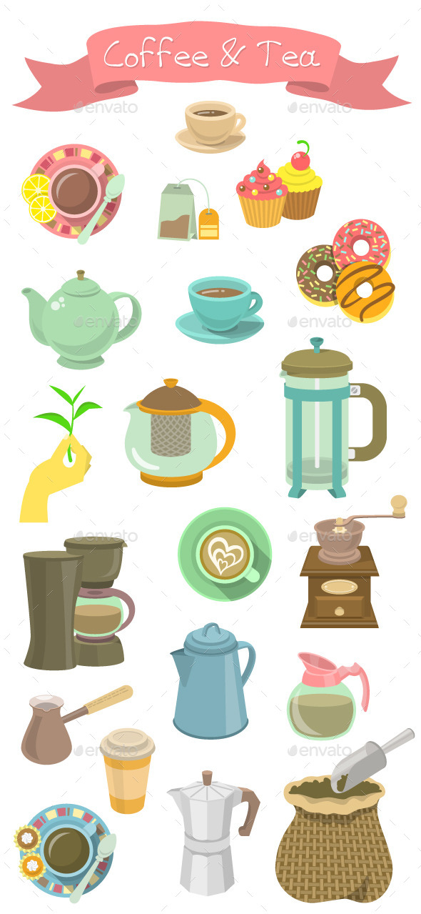 GraphicRiver Coffee and Tea Collection 9177723